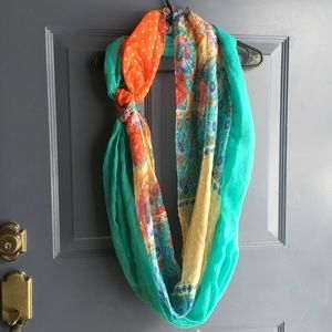 Colorful infinity scarf (two in one)!